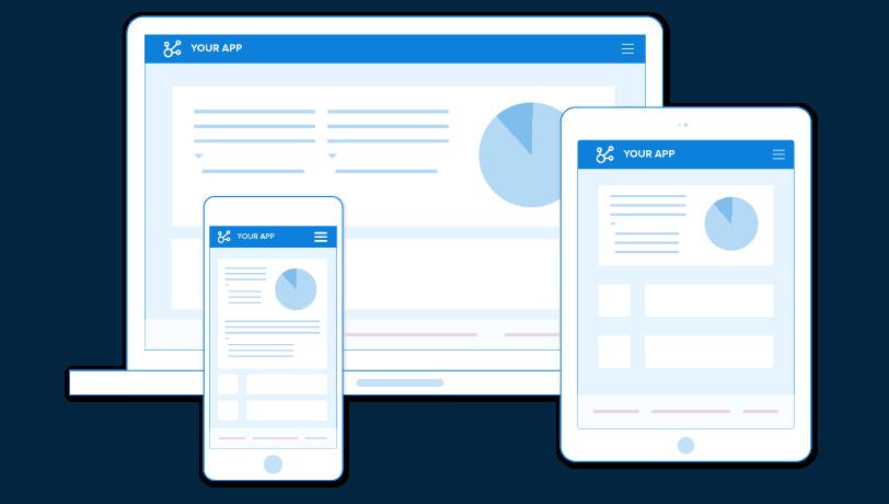 Az alkalmazás képernyője összetett eszközökön is megjelenik.