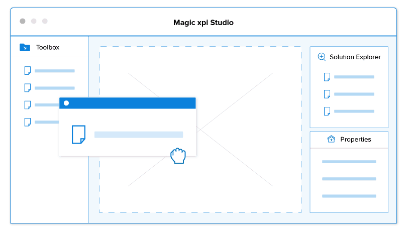 Magic xpi visual studio drag and drop functionality